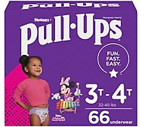 Pull-Ups Training Pants Learning Designs For Girl Toddler 3 To 4 Day & Night - 66 Count