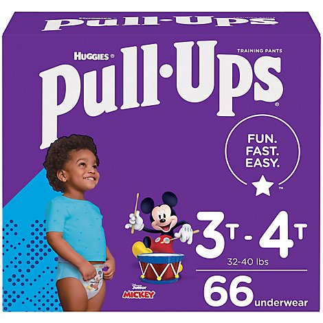 Pull-Ups Potty Training Pants For Boys Size 5 3T To 4T - 66 Count