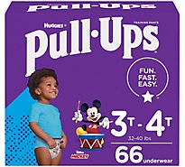Pull-Ups Training Pants Learning Designs For Boy Toddler 3 To 4 - 66 Count