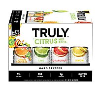 Truly Hard Seltzer Spiked & Sparkling Water Citrus Variety 5% ABV Slim Cans - 12-12 Fl. Oz.