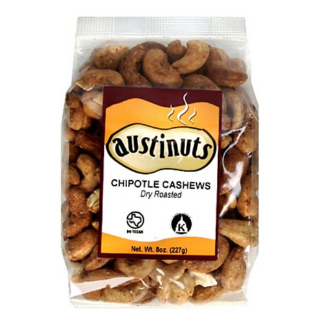 Austinuts Cashew Chipotle Dry Roasted Prepacked - 8 Oz