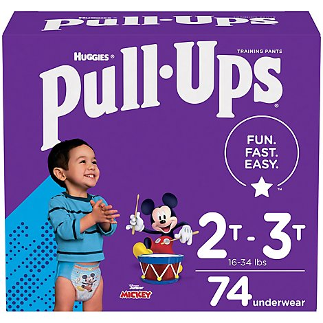 Pull-Ups Training Pants Learning Designs For Boy Toddler 2 To 3 Day & Night - 74 Count