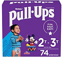 Pull-Ups Training Pants Learning Designs 2T-3T Day & Night Disney Pixar - 74 Count