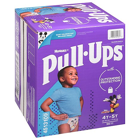 Pull-Ups Training Pants Learning Designs For Boy Toddler 4 To 5 Day & Night - 56 Count