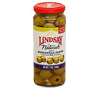 Lindsay Naturals Olives Spanish Manzanilla Stuffed with Red Peppers - 7 Oz