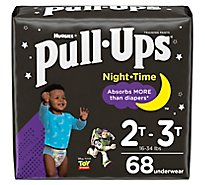 Pull-Ups Training Pants Learning Designs For Boy Toddler 3 To 4 Night Time - 68 Count