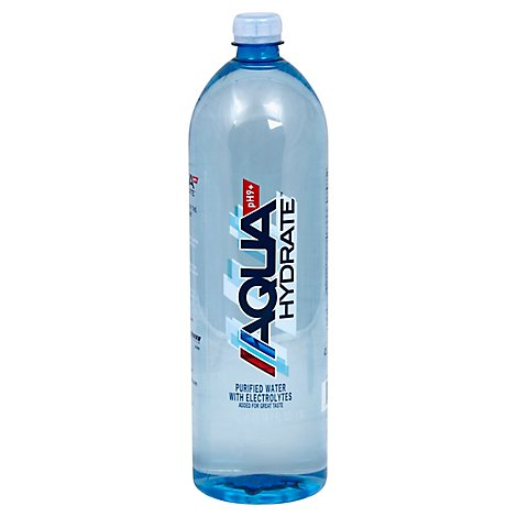 AQUAhydrate Enhanced Water with Electrolytes PH9+ - 1.5 Liter