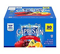 Capri Sun Juice Drink Blend Fruit Punch Flavored Value Pack! - 30-6 Fl. Oz.