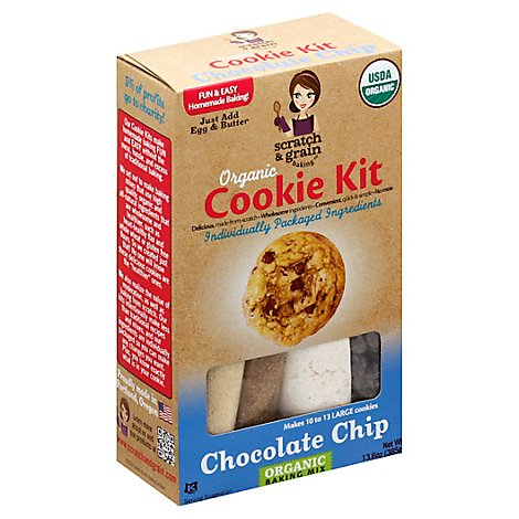 Scratch & Grain Baking Kit Cookie Organic Chocolate Chip - 13.6 Oz