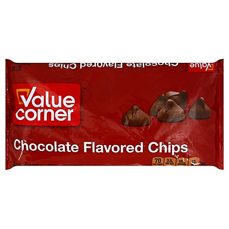 Value Corner Chips Chocolate Flavored - 12 Oz