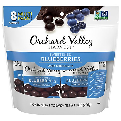 Orchard Valley Harvest Blueberries Sweetened Dark Chocolate Multi Pack - 8-1 Oz