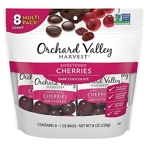 Orchard Valley Harvest Dark Choc Cherries - 8 Oz