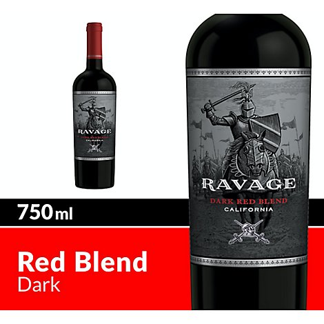 Ravage Wine Dark Red Blend - 750 Ml