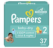 Pampers Baby Dry Diapers Size 2 - 37 Count