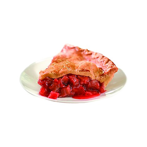 Bakery Pie Strawberry Rhubarb 1/4 - Each (610 Cal)