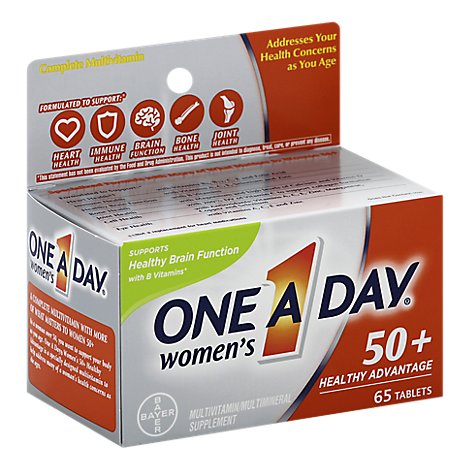 One A Day Womens Multivitamin/Multimineral Supplement 50+ Healthy Advantage Tablets - 65 Count