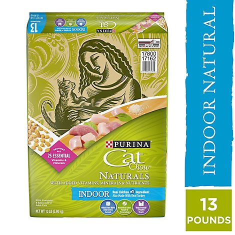 Cat Chow Cat Food Dry Naturals Chicken & Turkey - 13 Lb