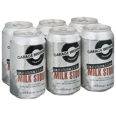 Garage Brewing Marshmallow Milk Stout In Cans - 6-12 Fl. Oz.