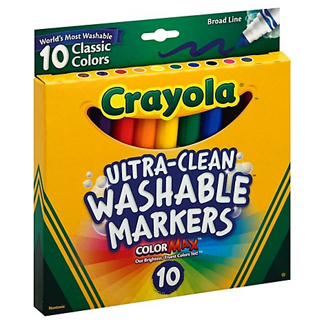 Crayola Ultra Broad Line Classic Markers - Each