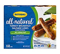 Butterball Natural Inspirations Sausage Turkey Breakfast Links - 8 Oz