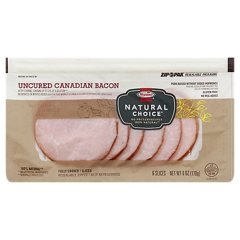 Hormel Natural Choice Canadian Bacon Sliced - 6 Oz