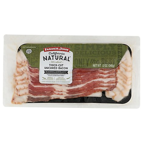 Farmer John Natural Thick Sliced Bacon - 12 Oz