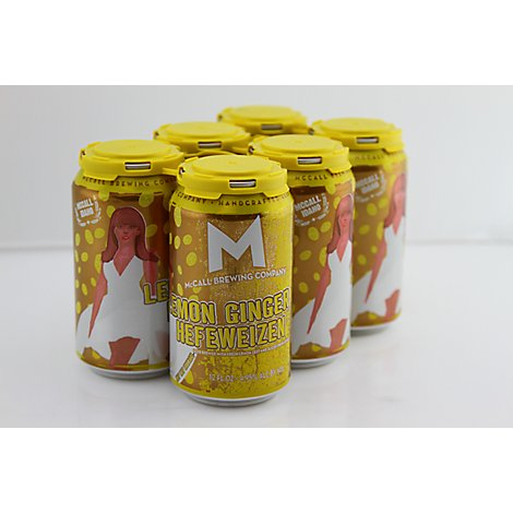 Mccall Brewing Company Lemon Ginger Hefeweizen In Bottles - 6-12 Fl. Oz.