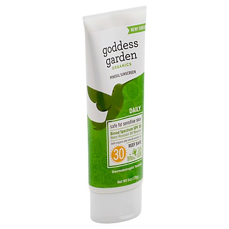 Goddess Garden Organics Sunscreen Natural Everyday Broad Spectrum SPF 30 - 6 Oz