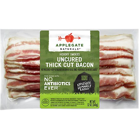 Applegate Natural Uncured Thick Cut Bacon - 12oz