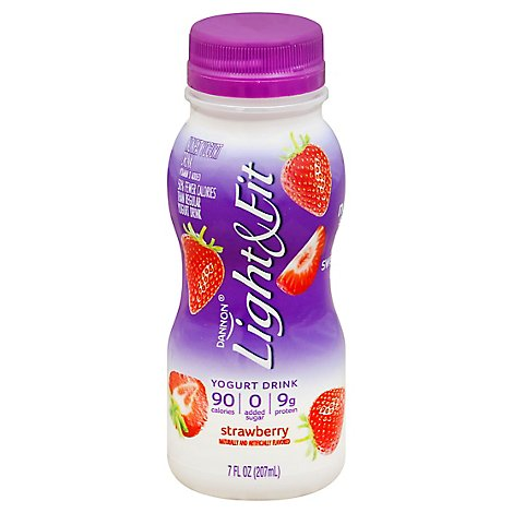 Dannon Light & Fit Yogurt Drink Nonfat Strawberry - 7 Oz