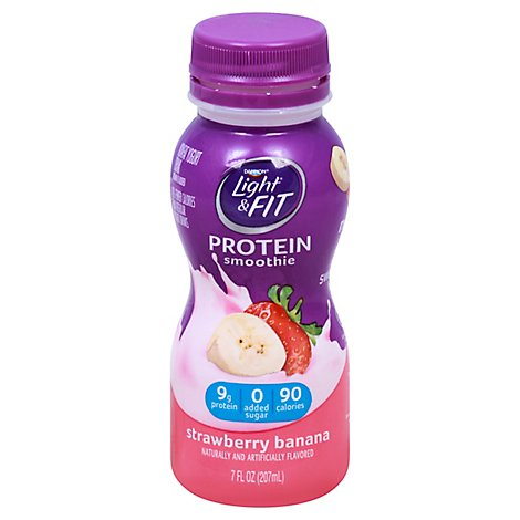 Dannon Light & Fit Yogurt Drink Nonfat Strawberry Banana - 7 Oz