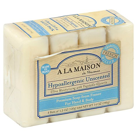 A La Maison Soap for Hand & Body Hypoallergenic Value Pack - 4-3.5 Oz