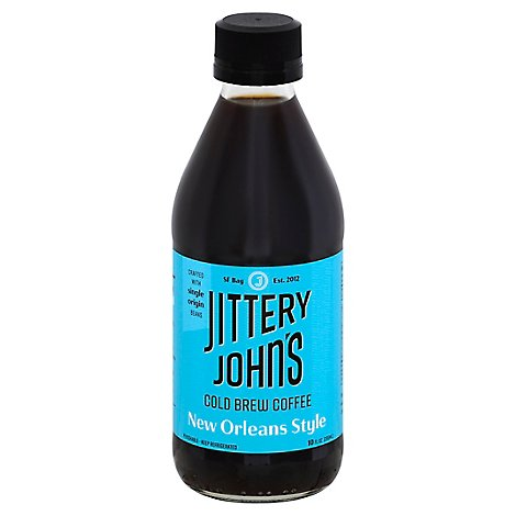 Jittery Johns Cold Brew Coffee New Orleans Style - 12 Fl. Oz.