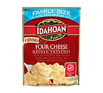 Idahoan Potatoes Mashed Four Cheese Pouch - 8 Oz