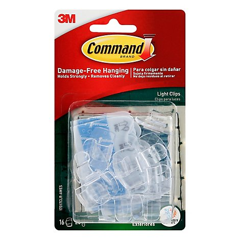 Outdoor Light Clips And Strips 16 Clips 20 Foam Strips - Each