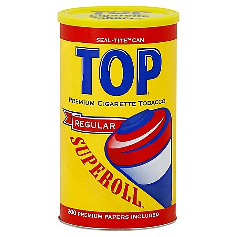 TOP Superoll Cigarette Tobacco Regular Can - 3.5 Oz