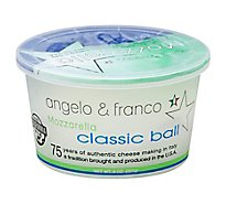 Angelo & Franco Classic Mozzarella Ball - 8 Oz