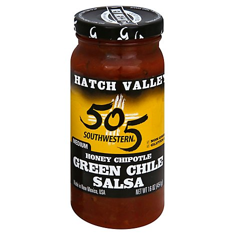 505 Southwestern Hatch Valley Salsa Honey Chipotle Medium Jar - 16 Oz