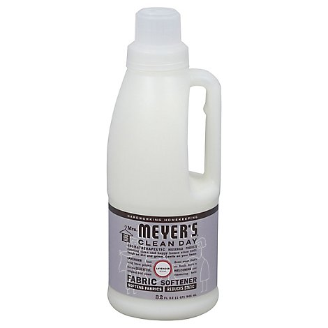 Mrs. Meyers Clean Day Liquid Fabric Softener Lavender Scent 32 ounce bottle
