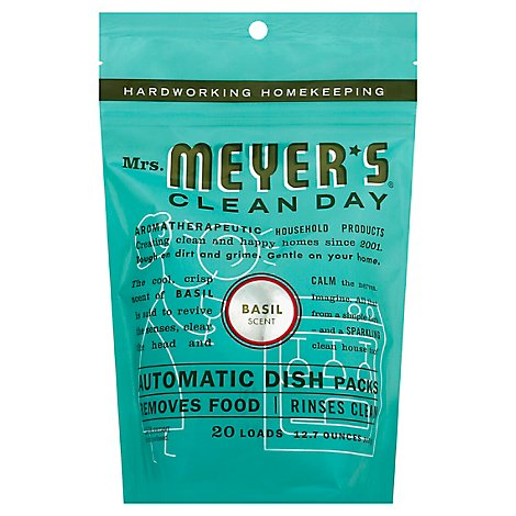 Mrs. Meyers Clean Day Dish Packs Automatic Basil Scent - 12.7 Oz