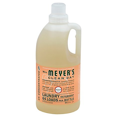 Mrs. Meyers Clean Day Laundry Detergent Geranium Scent 64 ounce bottle (Pack of 2)