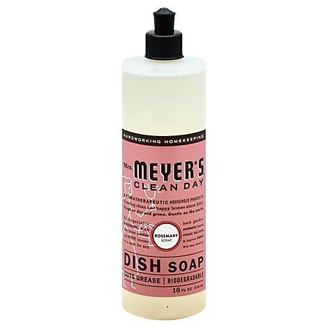 Mrs. Meyers Clean Day Liquid Dish Soap Rosemary Scent 16 ounce bottle
