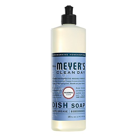 Mrs. Meyers Clean Day Liquid Dish Soap Bluebell Scent 16 ounce bottle