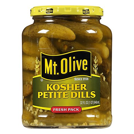 Mt. Olive Pickles Petite Kosher Dills - 32 Fl. Oz.