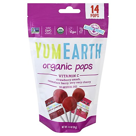 Yumearth Lollipop Vitamin C Organic - 14 Count