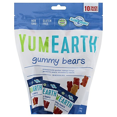 Yumearth Gummy Bear Assorted Snack Pack - 10 Count