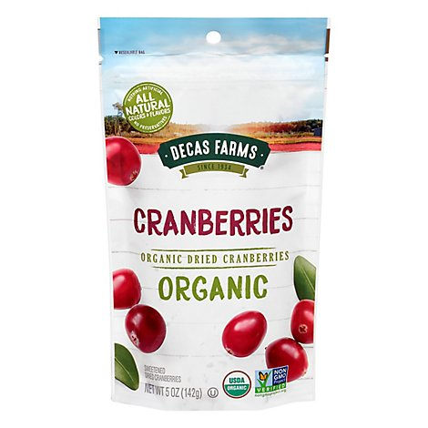 Paradise Meadow Cranberries Organic Dried Premium - 5 Oz