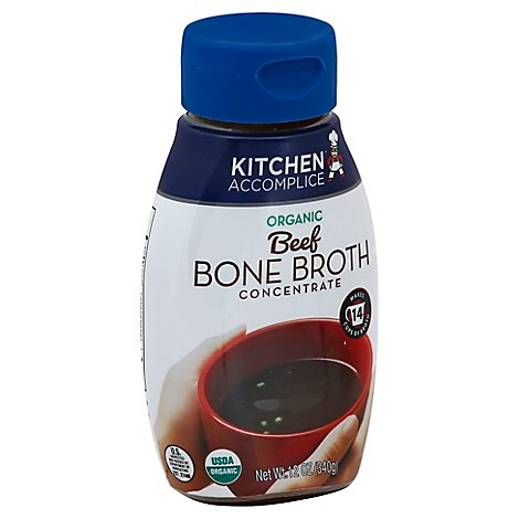 Kitchen Accomplice Bone Broth Concentrate Organic Beef - 12 Oz