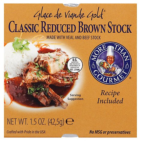 More Than Gourmet Stock Brown Classic Reduced Glace de Viande Gold - 1.5 Oz