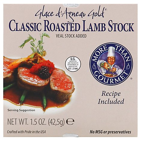More Than Gourmet Stock Classic Roasted Lamb Glace d Agneau Gold - 1.5 Oz